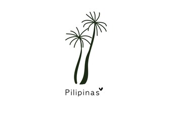 Philippines and palm trees digital download