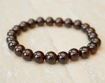 January Birthstone, Birthstone Jewelry, Mothers Day Jewelry, Garnet Jewelry, Garnet Bracelet, Beaded Bracelet, Natural Gemstone Jewelry