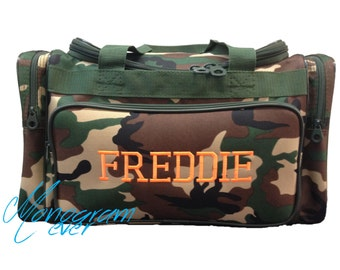 Camo Duffle Bag/ Boy's Overnight Bag/ Travel Bag