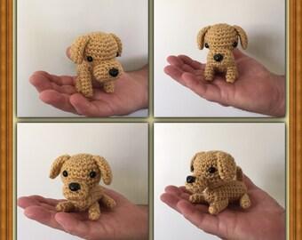 Crochet Dog - Plush Dog - Knit Dog - Small Crochet Dogs