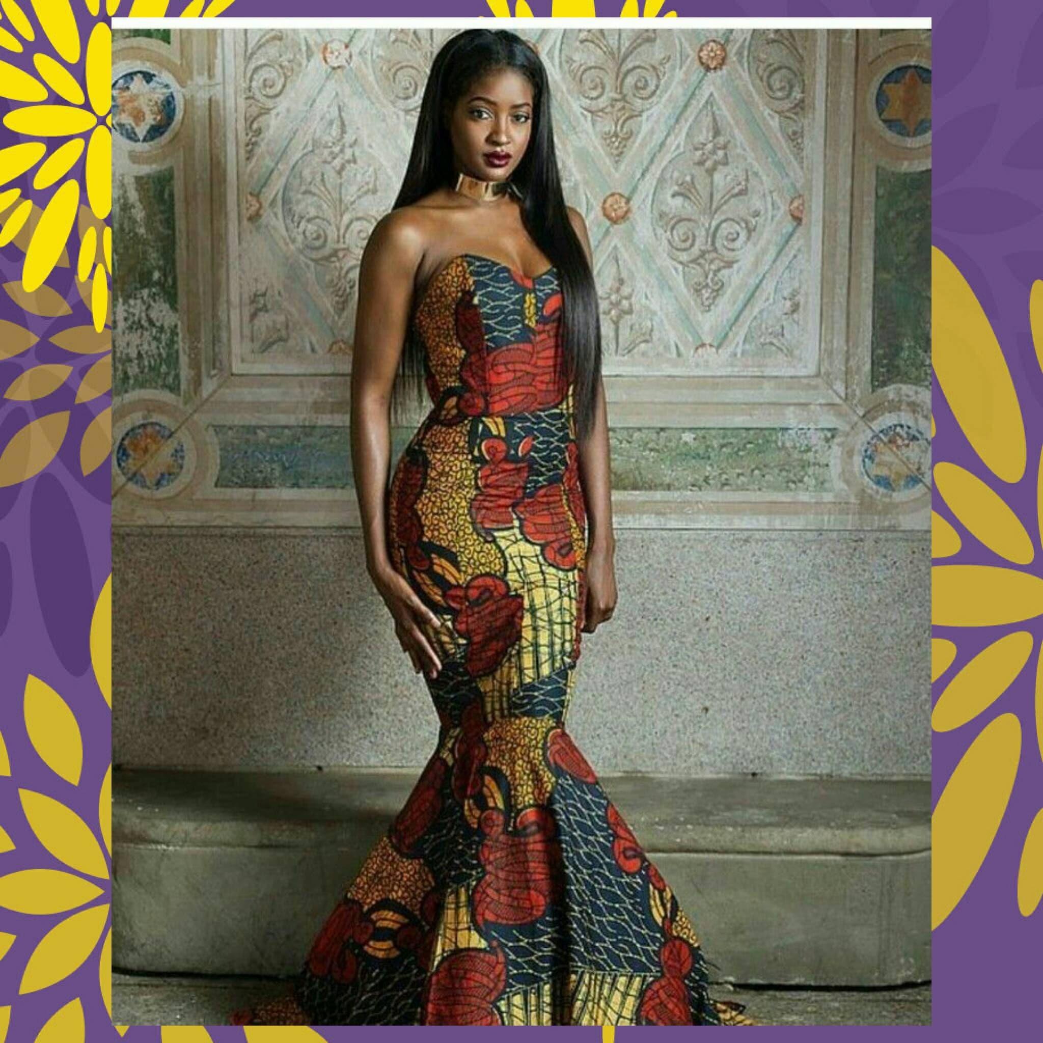 Ankara Tube Dress African Prom Dress African Clothing