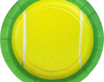 "Tennis Party 7"" Dessert Plates 8 Pack"