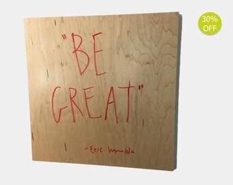 Dry Erase Board - Home Organization Modern Design in Wood / White Board
