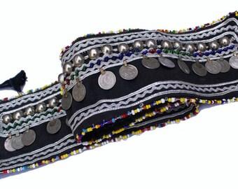 FREE SHIPPING - Vintage Indian Banjara Belly Dance Belt Boho Belt Fusion and Tribal Belt Waist Jewellery Hippie Belt