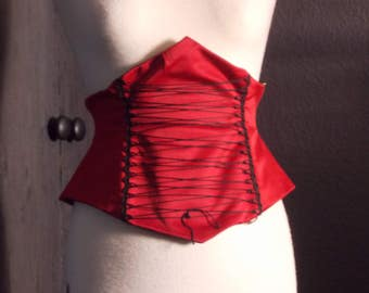 Red satin bodice