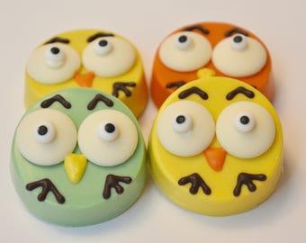 Owl Chocolate Covered Oreos (12 Oreos) , Owls, Owls Oreos, Owl Treats, Bird Oreos, Owl baby shower, Owl cookies, Owl gifts
