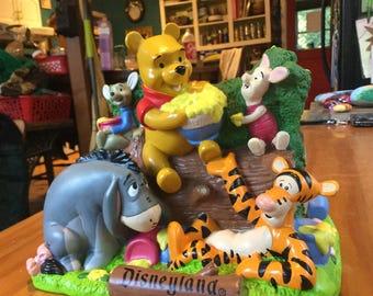 Vintage Disneyland plastic Winnie the Pooh bank