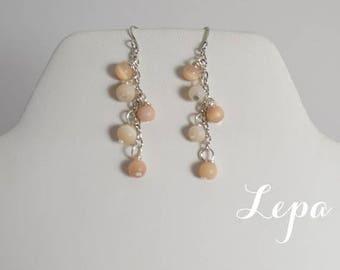 Peaches and Cream Earrings