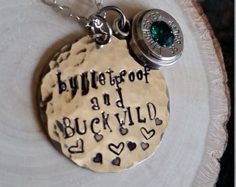 Bulletproof and buckwild necklace