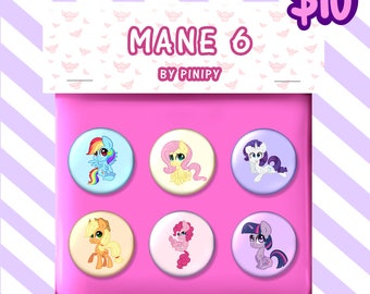 MLP Mane 6 Badge Pack
