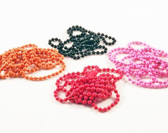 ALF1 - necklace chain balls balls pink birth Orange Red Black Metal / Metal Ball Chain quality Candy Pink Orange Red Black