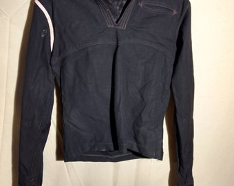 Vintage men's military navy coat