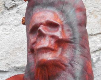 Hand Made Embossed Skull Backpack