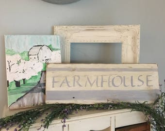 Farmhouse french country chic farmhouse wood sign, wood farmhouse sign, farmhouse sign, farmhousedecor, rustic decor country decor,