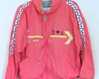 Vintage Pink Windbreaker | 1980s IXSPA Pockets Galore Windbreaker