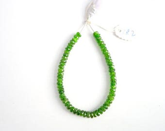 Chrome Diopside Faceted Rondelles   (CR2)  ,  Chrome Diopside Rondelle Beads