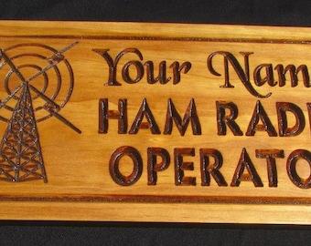 Ham Radio Operator;Amateur Radio;Call Sign plaque