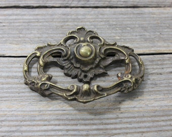 Solid brass ornate drawer pull