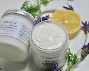 Dreamy Lavender Body Butter, Whipped Body Cream, Natural Body Lotion, Repairing Nourishing Hydrating Body Butter, Super Moisturizer