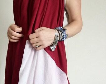 Indian shawl - linen shawl, Indian linen scarf, summer shawl, bohemian festival pashmina, linen sarong, bridesmaid shawl, boho scarf,