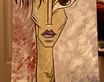 Original painting. Abstract. Face