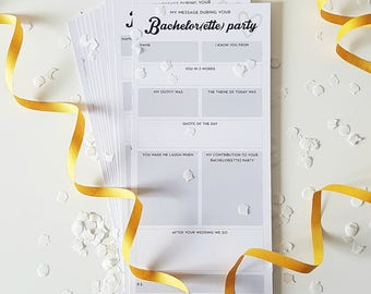 Guest book cards bachelor bachelorette party - marriage advice - alternative guest book - gastenboek - bruiloftinvulkaarten