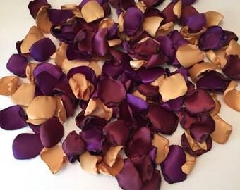 Gold Rose Petals/Rustic Wedding Rose Petals/Burgundy Petals/Aisle Petals/Wedding Rose Petals/Plum Rose Petals/Purple Rose Petals