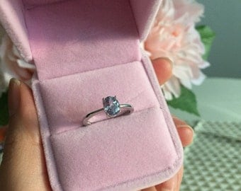 Lilac spinel ring (S925)