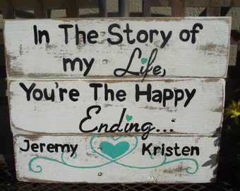Wedding sign | Rustic painted wedding sign | Personalized wedding sign | Anniversary gift | Wedding gift | Bridal shower gift | Couple gift