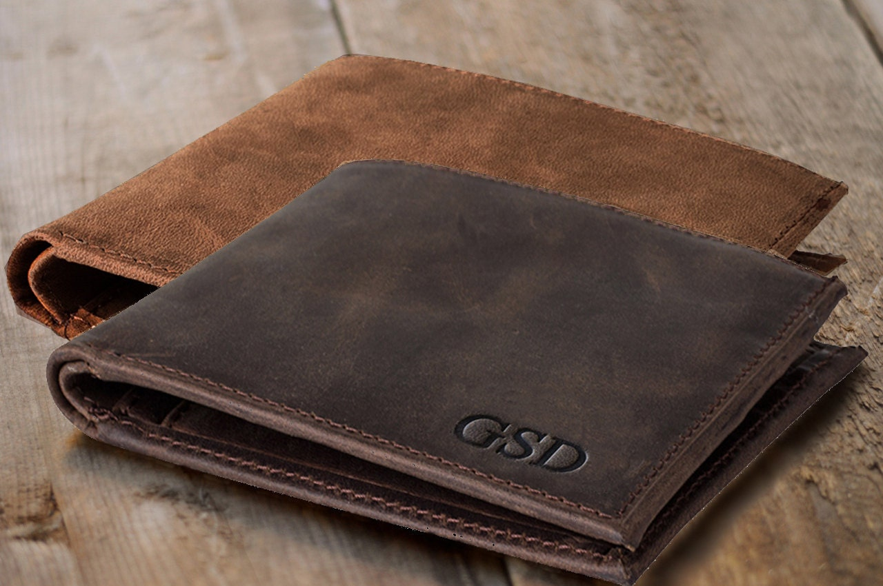 Wallet Mens Gift For Men Personalized Leather Wallet Mens