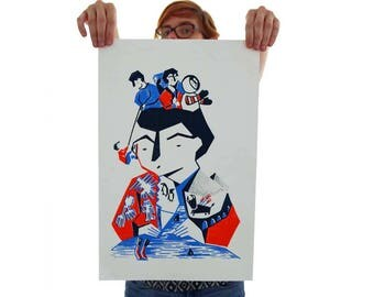 Me arrepiento - screenprinted poster