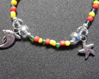 Nautical stretch charm bracelet