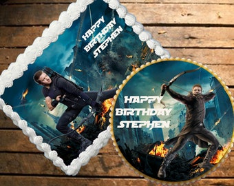 Hawkeye Edible Cake Topper
