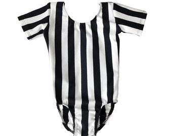 Ballet & Dance Black White Striped Leotard For Kids/Toddler
