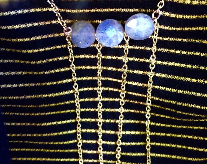 Labradorite Multi Strand Necklace