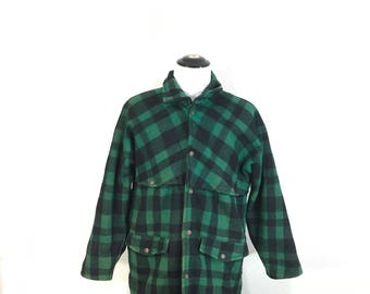 50's vintage wool mackinaw hunting jacket shadow plaid