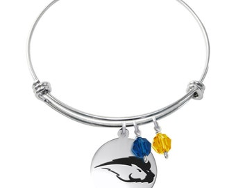 Hofstra Pride Bracelet | Stainless Steel Adjustable Bangle | Three Styles | Officially Licensed