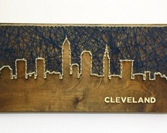 Cleveland Skyline String Art - Cleveland Art - Ohio Art