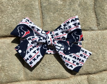 TIED, Houston Texans, Football Headwrap, Team Headwrap, Baby Headband,Toddler Bows, Big Bow, Baby Girl Headwrap,Headband, Infant, NFL