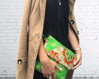 Vintage obi silk Shoulder / clutch bag