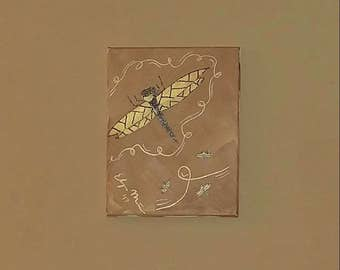 8X10 Dragonfly Painting