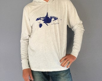 Orca Whale Long sleeve hoodie