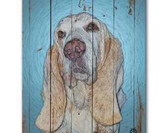 """16"""" X 20"""" Custom Pet Portrait Standout (Rustic Style)"""