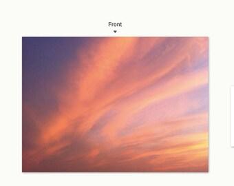 Truro Sunset 3 notecard