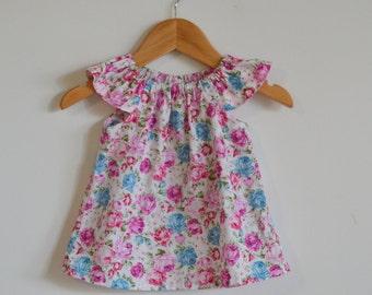 Girl blouse // top // vintage // floral // floral // gift // occasion