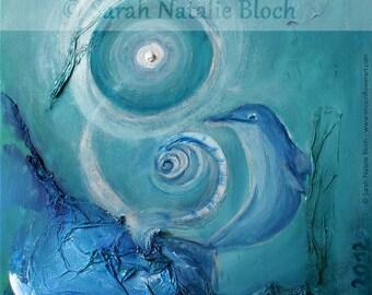 Canvas * power animal Dolphin * (art print)