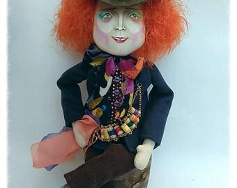 Текстильная кукла The Mad Hatter