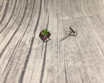 Earrings with SWAROVSKI element stained
