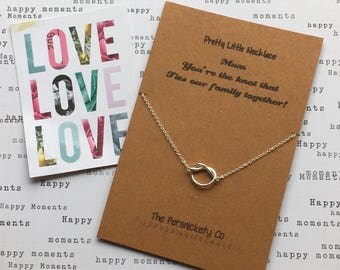 Pretty Little Necklace - Mum you're  the knot that ties our family together!