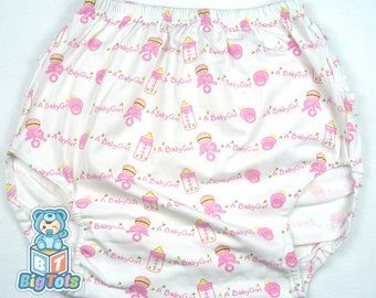 "Adult Baby ""a baby girl"" ruffle butt baby pants ABDL"